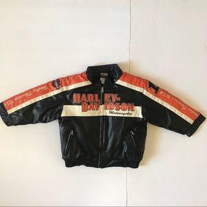 Harley Davidson Embroidered Motorcycle Jacket